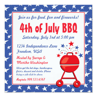 Patriotic BBQ Custom Card