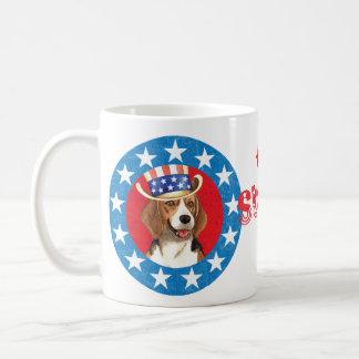 Patriotic Beagle Basic White Mug