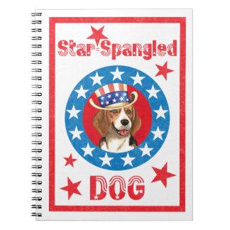 Patriotic Beagle Spiral Notebooks