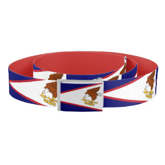 Patriotic Belt with flag of American Samoa