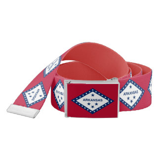 Patriotic Belt with flag of Arkansas, U.S.A.