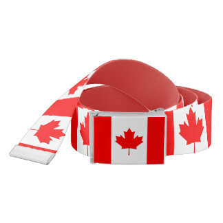 Patriotic Belt with flag of Canada