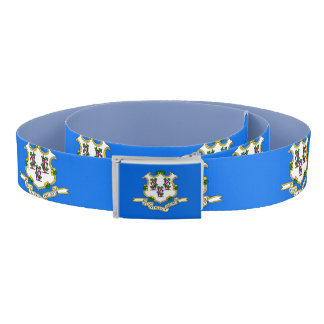 Patriotic Belt with flag of Connecticut, U.S.A.