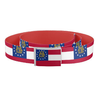 Patriotic Belt with flag of Georgia, U.S.A.