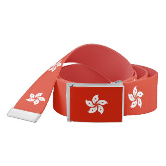 Patriotic Belt with flag of Hong Kong