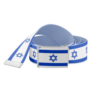 Patriotic Belt with flag of Israel