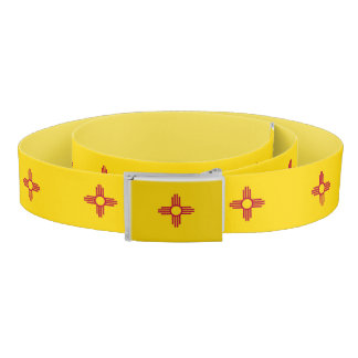 Patriotic Belt with flag of New Mexico, USA