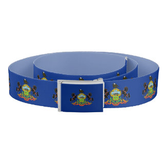 Patriotic Belt with flag of Pennsylvania, USA
