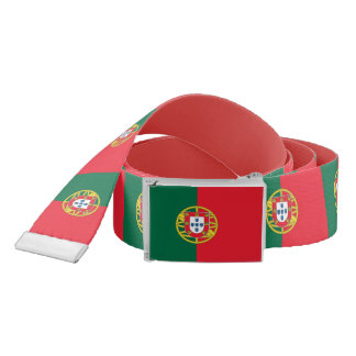 Patriotic Belt with flag of Portugal