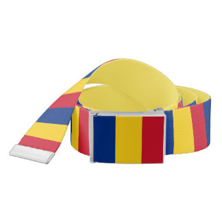 Patriotic Belt with flag of Romania