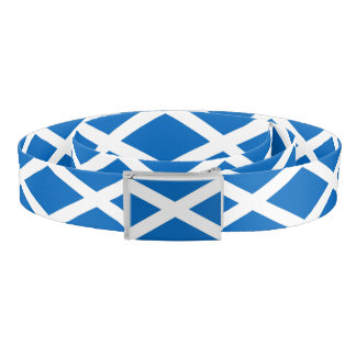 Patriotic Belt with flag of Scotland