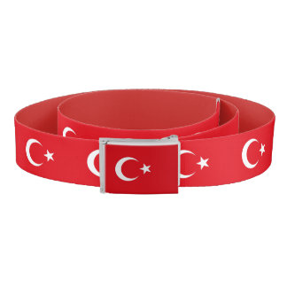 Patriotic Belt with flag of Turkey