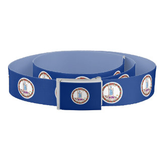 Patriotic Belt with flag of Virginia, USA