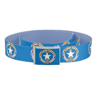 Patriotic Belt with Northern Mariana Islands flag