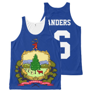 Patriotic Bernie Sanders 2016 Vermont State Flag All-Over Print Tank Top