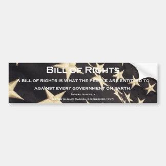 """Patriotic """"Bill of Rights"""" Bumper Sticker"""