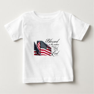 Patriotic Blessed is the Nation Baby T-Shirt