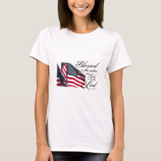 Patriotic Blessed is the Nation T-Shirt