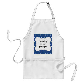 Patriotic Blue and White Stars Freedom Adult Apron