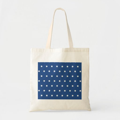 Patriotic Blue and White Stars Freedom Canvas Bags