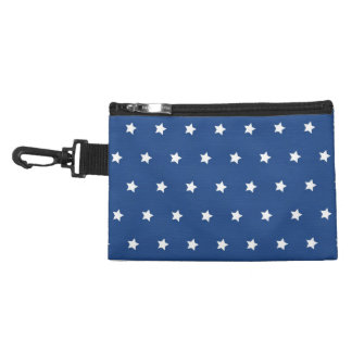 Patriotic Blue and White Stars Freedom Accessories Bag