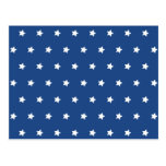 Patriotic Blue and White Stars Freedom Postcard