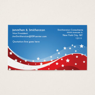 Patriotic Blue Business Card