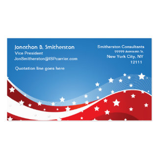 Patriotic Blue Business Card Templates