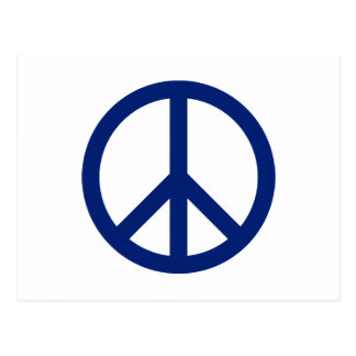 Patriotic Blue Peace Symbol Postcard