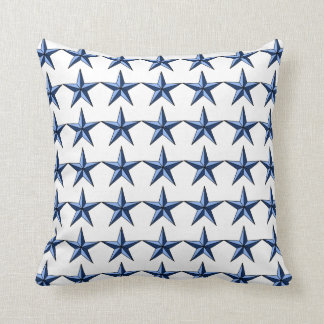 Patriotic Blue Stars on White Field Accent Pillow