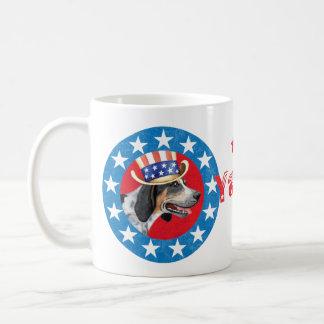 Patriotic Bluetick Basic White Mug