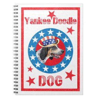 Patriotic Bluetick Spiral Notebooks
