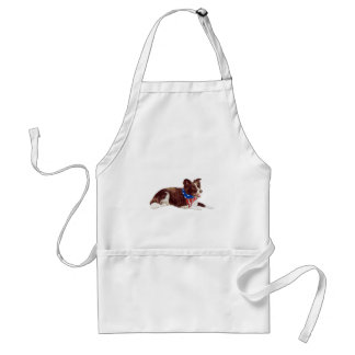 Patriotic Border Collies Standard Apron
