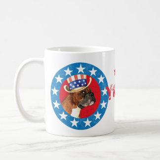 Patriotic Boxer Basic White Mug