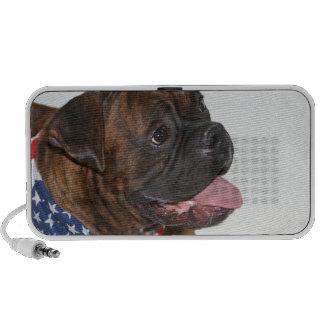Patriotic boxer dog doodle speaker