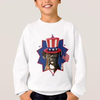 Patriotic Boxer Dog Kids Sweatshirt