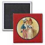 Patriotic_Boy and Girl_Magnet Magnet