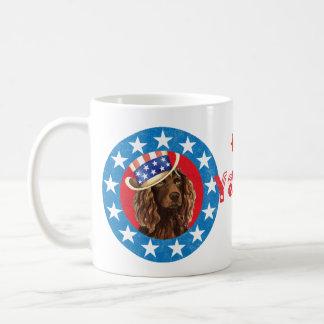Patriotic Boykin Spaniel Basic White Mug