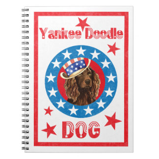 Patriotic Boykin Spaniel Spiral Notebooks