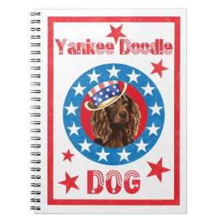 Patriotic Boykin Spaniel Spiral Note Book