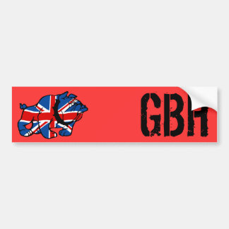 Patriotic British Bulldog Bumper Sticker