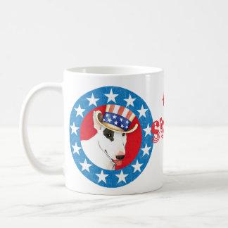 Patriotic Bull Terrier Basic White Mug