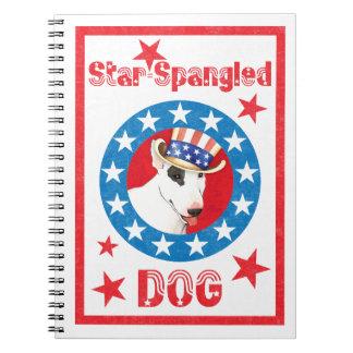 Patriotic Bull Terrier Note Book