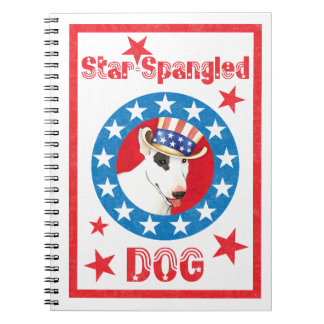 Patriotic Bull Terrier Spiral Notebook