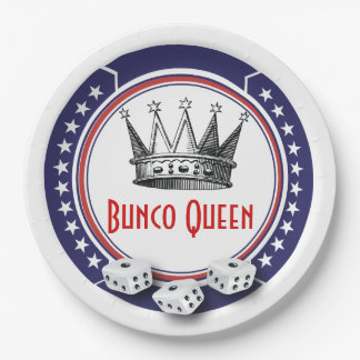 Patriotic Bunco Queen Paper Plate