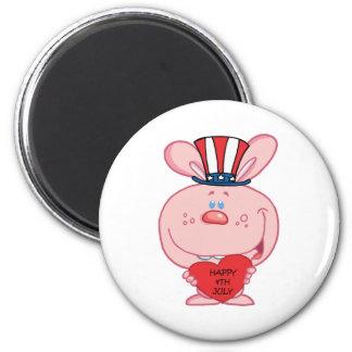 Patriotic Bunny Refrigerator Magnets