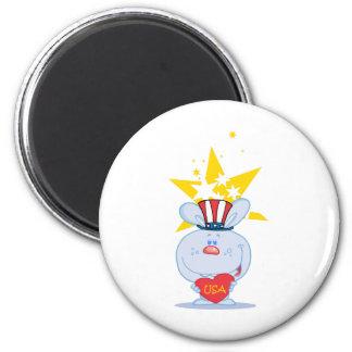 Patriotic Bunny Fridge Magnet