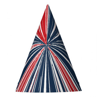 Patriotic Burst Abstract Party Hat