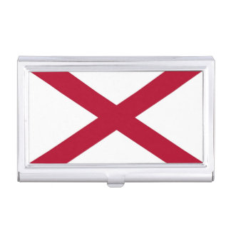 Patriotic business card holder with Alabama Flag