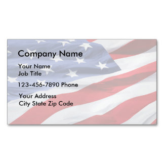 Patriotic Business Card Magnets Magnetic Business Cards